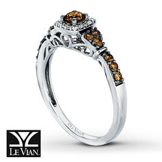 Le Vian chocolate diamond ring- this is my new engagement ring!
