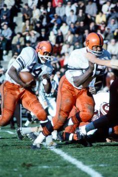 Floyd Little (#44) of Syracuse University, November 1964