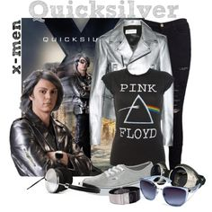 """quicksilver x-men"" by retrorose on Polyvore"