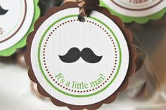 Mustache Baby Shower Favor Tags  Set of 12 by SweetEventsBoutique, $10.00