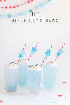 DIY 4th of-july drink stirrers-