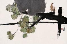 Qin Tianzhu - soyka62 Japanese Watercolor, Watercolor Sketch, Japanese Art, Japan Painting, Plant Painting, Chinese Painting, Chinese Art, Chinese Brush, Korean Art