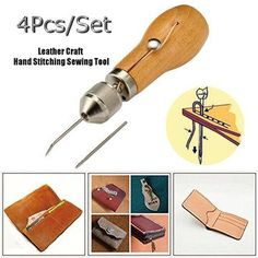 QualityLeather Hand Single Needle Stitching Sewing Awl Tool Thread Repairing Tents - NewChic Mobile.