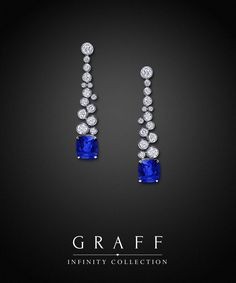 Graff Diamond and Sapphire Infinity Collection Earrings.