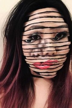 This woman, who's all mixed up. | 21 Spooky AF Halloween Transformations That'll Scare The Crap Out Of You