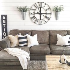 "1,226 Likes, 26 Comments - ANTIQUE FARMHOUSE (@antiquefarmhouse) on Instagram: ""# @nellyfriedel Looks great! Love the shiplap walls and that richly colored couch. Love seeing our…"""