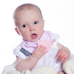 Neckerchew - Cool Pink - Now available in Australia! The world's first chewy bib!