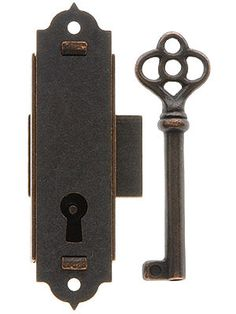I love this website, they have lots of old looking hardware for doors that actually works like the originals. For example the door locks come with a skeleton key that locks the door from both sides. So cool!!!