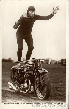 Motor-cycle display by Dispatch Riders. CardCow.com