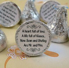 Personalized Round Sticker Labels for Hershey Kiss Favors