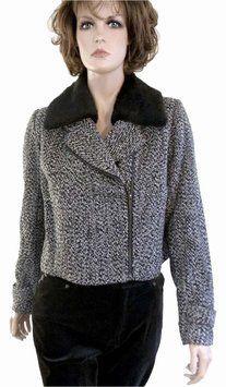 Covington Boucle Faux Fur Black/White Tweed Jacket