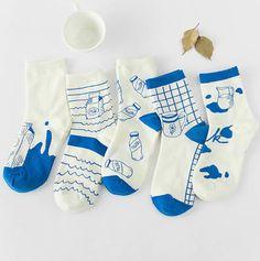 Blue Milk Socks