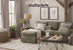 #LivingRoomTableSets Sage Living Room, Small Living Rooms, Home And Living, Living Room Designs, Modern Living, Living Spaces, Room Wall Decor, Bedroom Decor, Master Bedroom