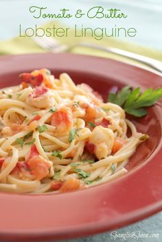 Tomato and Butter Lobster Linguine from @spanglishspoon #FoodieBeMine #SpicyBites