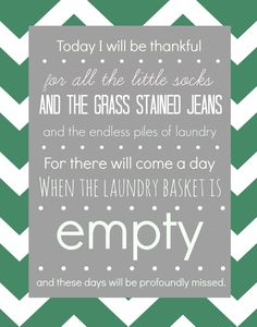 Free - Today I will be thankful - printable