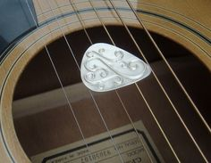 Circle of Fifths Silver Guitar Pick by Josh24344 on Etsy, $50.00