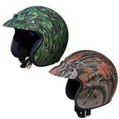 GMAX GM2 Street Riding DOT Certified Open Face Camo Motorcycle Helmets