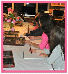 Art Birthday Party! A Great Party Idea for 10 Year Old Girls! - MomOf6