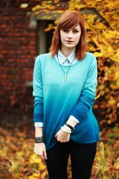 Pretty blue ombre sweater