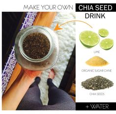Detoxifying Chia Seed Recipe // Save $$ + make it at home!! Healthy Cooking, Healthy Snacks, Healthy Eating, Healthy Recipes, Healthy Options, Clean Eating, Chia Seed Smoothie, Chia Drink, Becoming Vegetarian