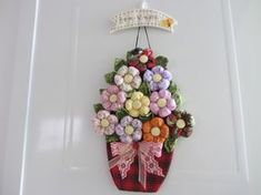 D Flowers, Crochet Flowers, Fabric Flowers, Fused Glass Art, Grapevine Wreath, Twine, Free Pattern, Sewing Projects, Beautiful Pictures