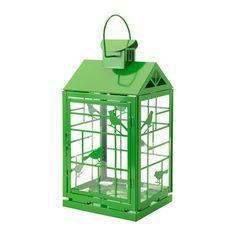 RAPPT Lantaarn voor stompkaars IKEA Het warme schijnsel van de kaars schijnt decoratief door het decor van de lantaarn.