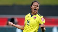 Lady Andrade of Colombia celebrates her goal