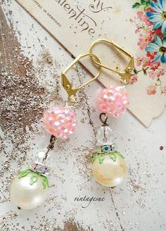 upcycled drop earrings www.facebook.com/vintagesue