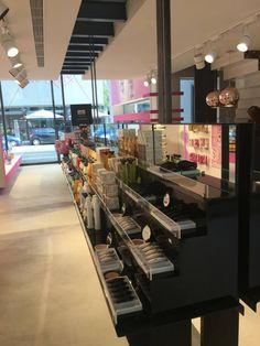 lucy pink stores  #lucypink #athens #cosmetics #bodycare #facecare Face Care, Body Care, Athens, Conference Room, Cosmetics, Store, Table, Pink, Furniture