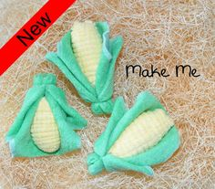 Corn washcloth for a Diaper Cake