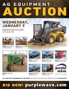 Purple Wave Auction (@purplewave) on Twitter Heavy Duty Trucks, Used Equipment, Used Trucks, New Holland, Sale Promotion, Online Marketing, Tractors, Online Business, Monster Trucks