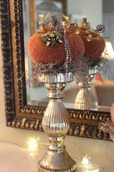 Rooted In Thyme: ~My New Sweater Pumpkin Creations and Simple & Sweet Fridays Velvet Pumpkins, Fabric Pumpkins, Sweater Pumpkins, Fall Pumpkins, Autumn Decorating, Pumpkin Decorating, Thanksgiving Decorations, Halloween Decorations, Fall Decorations
