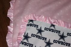Dallas Cowboys Blanket by johnelem on Etsy, - SO cute!!