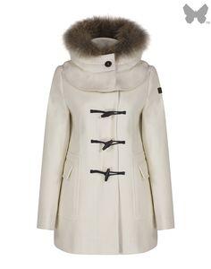 Aigle Women's Duffleclan Duffle Coat - Ecru | Country Attire
