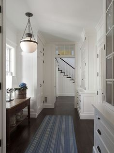 built ins storage and light. Tips and trips that make the hallway look bright and beautiful  Hometone