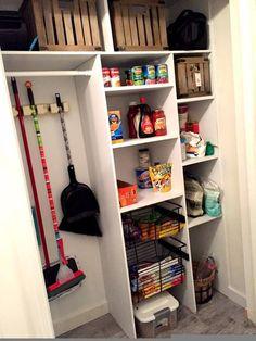p/diy-custom-pantry-diy-custom-pantry-closet-closet-custom-diy-pantry - The world's most private search engine Pantry Shelving, Closet Shelves, Pantry Storage, Closet Storage, Kitchen Storage, Pantry Diy, Shelving Ideas, Pantry Ideas, Storage Ideas