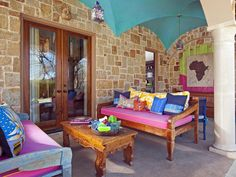 Colorful patio. Colorful Outdoor Rooms : Outdoors : Home & Garden Television