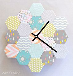 Cool Crafts You Can Make With Fabric Scraps - Fabric Block Hexagon Clock - Creative DIY Sewing Projects and Things to Do With Leftover Fabric and Even Old Clothes That Are Too Small - Ideas, Tutorials and Patterns http://diyjoy.com/diy-crafts-leftover-fabric-scraps