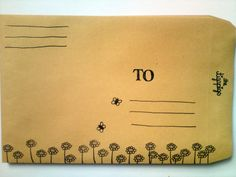 4er Set Blumenwiese II Kuverts von HerrPfeffer auf DaWanda.com