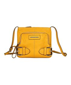 Take a look at this Canary Yellow Jolie Crossbody Bag by Franco Sarto on #zulily today!