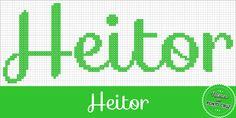 Nomes em Ponto Cruz: Heitor - Nomes em Ponto Cruz