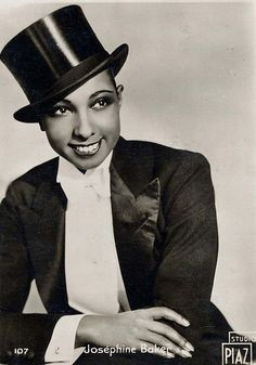 """Josephine Baker in La Joie de Paris, 1932-33.   Given the nicknames """"Black Venus,"""" """"Black Pearl,""""""""Creole Goddess,"""" as well as """"La Baker"""" in her adopted country of France. A dancer, singer, actress and a comedian all in one, She was is noted for being the first woman of African descent to star in a major motion picture, to integrate an American concert hall, and to become a world famous entertainer. Her acts were both outrageously funny and quite sexy."""