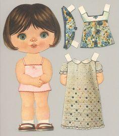 Paper Dolls Book, Vintage Paper Dolls, Paper Toys, Paper Crafts, Paper Doll Template, Paper Dolls Printable, Sweet Memories, Childhood Memories, Girl Dolls