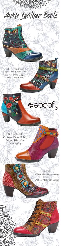 Socofy mid heel boot,2018 the newest fashion style haul.Casual and suit for holiday dating.You can try in Winter,Autumn and Spring three seasons.