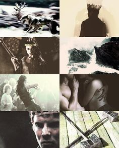 serpodricks:  asoiaf au - the nine kingdoms: king gendry baratheon and queen arya stark of the stormlands  Where the storm king takes his winter bride; a northern warrior princess as wild as the waves that crash against the rocks. Men and women tremble to behold the pair as they ride into battle together, the feral wolf close beside her stag - and when the battle is won, the savage queen laughs and howls as blood hits her lips and kisses her mate. They've a cold fury, they said.