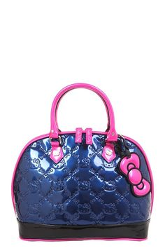 e8109e916822 Loungefly - Hello Kitty Navy Color Block Embossed Dome Bag Hello Kitty  Handbags