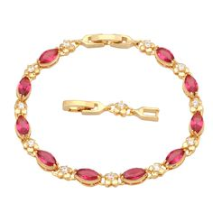 Find More Charm Bracelets Information about New 2016  gift Permanent Light ! ruby Bracelet 18K Yellow Gold  Flower Styles Bracelet  fashion jewelry B326,High Quality jewelry vault,China jewelry lanyard Suppliers, Cheap jewelry label from Dana Jewelry Co., Ltd. on Aliexpress.com