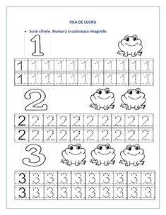 FISE cu cifre pentru clasa pregatitoare - Cifre punctate / Recapitulare cifre :: Fise de lucru - gradinita