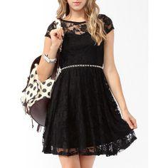 Lace Skater Dress ($20) via Polyvore