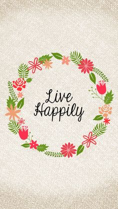 """Curly Made: Free """"Live Happily"""" wallpaper"""
